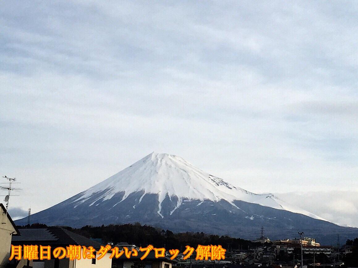 月曜日のブロック解除富士山